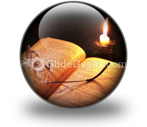 Book Candle PowerPoint Icon C