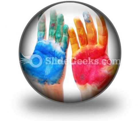 Color Hands PowerPoint Icon C