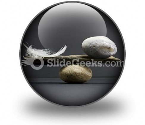 Feather Stone Balance PowerPoint Icon C