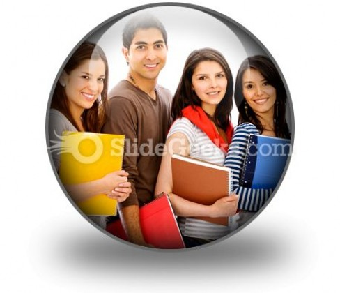 Group Of Students PowerPoint Icon C
