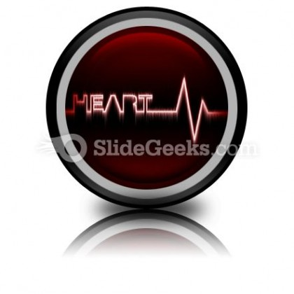 Heart Beat PowerPoint Icon Cc