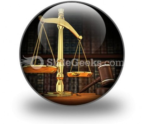 Law Justice PowerPoint Icon C