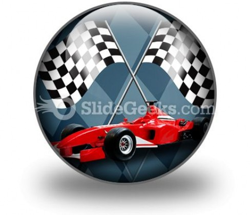 Red Formula Car PowerPoint Icon C