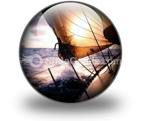 Sailing To The Sunrise PowerPoint Icon C