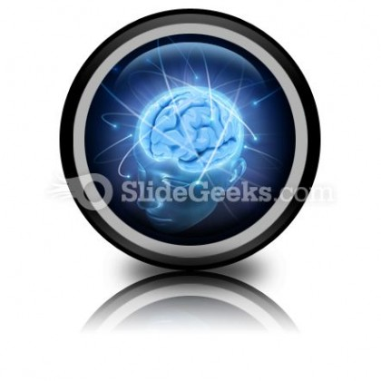 Vivid Brain PowerPoint Icon Cc